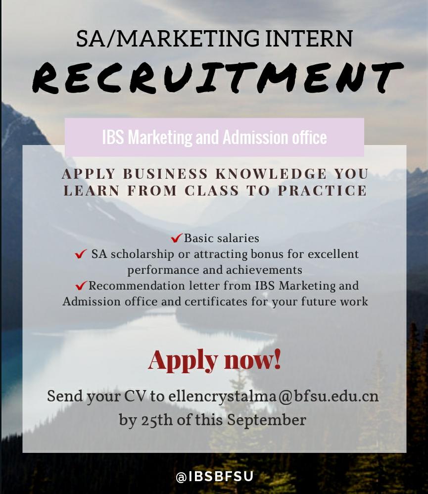 SA recruitment poster